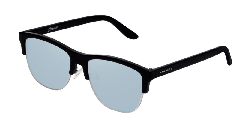 Hawkers: Diamond Black Blue Chrome Classic Flat