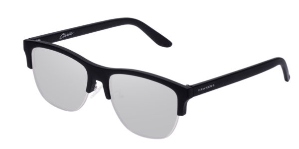 Hawkers Carbon Black Silver Classic Flat